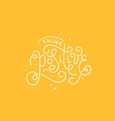 with hand-lettering phrase vector image vector image
