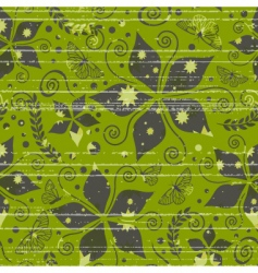 pattern with nature and grunge vector image vector image