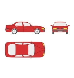 Red car on a white background vector image