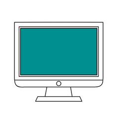 sketch color silhouette modern display desk vector image vector image