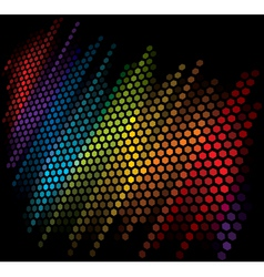 vector color scale equalizer on black background vector image