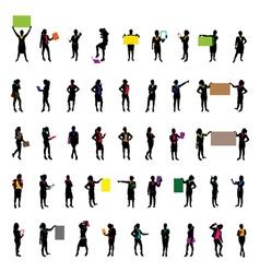 businesswomen set vector image