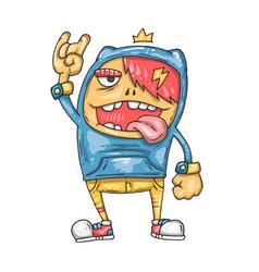cartoon brutal boy vector image