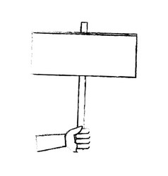 hand holding empty placard elections time vector image