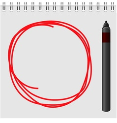 Notepad with red marker text box vector image vector image