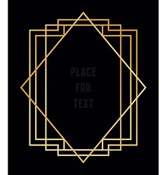 trendy geometric frame for text Line style vector image
