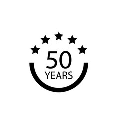 50 years anniversary sign element of anniversary vector image