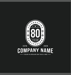 80 years anniversary celebration design vector