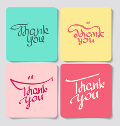 a set of thank you lettering vector image