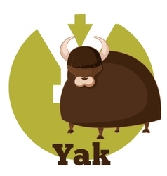 ABC Cartoon Yak vector image