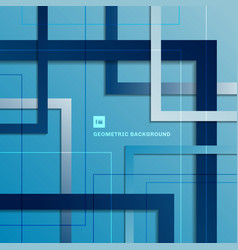 abstract blue gradient geometric square vector image