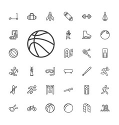Activity icons vector
