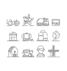 agricultural icon industrial farming machine vector image