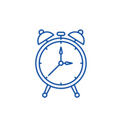 alarm watch line icon concept alarm watch flat vector image