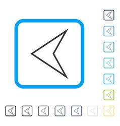 Arrowhead left framed icon vector