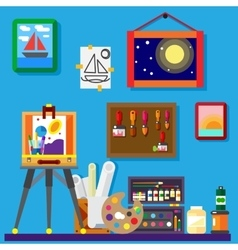 Artist workshop art gallery vector image