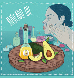 avocado oil used for skin care vector image