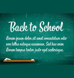 Back to school flyer vector