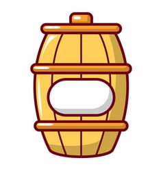 barrel of honey icon cartoon style vector image