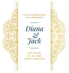 Beautiful wedding template design for royal vector