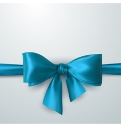 blue bow and ribbon vector image