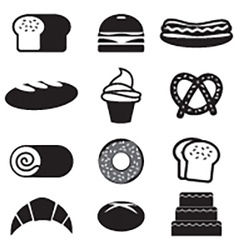 Bread And Bakery Icon Set vector image