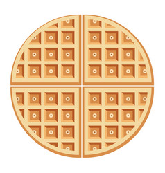 Breakfast waffles vector