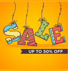Bright and ornamettal sale banner flyer template vector