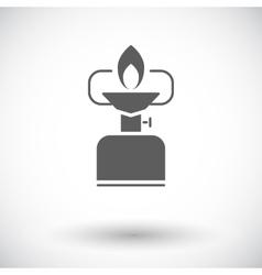 Camping stove vector image