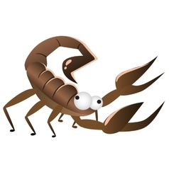 Cartoon brown funny Scorpio isolated vector
