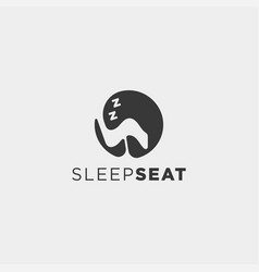 Chair relax logo design icon element isolated vector