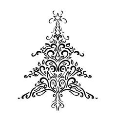 christmas element christmas tree ornament vector image