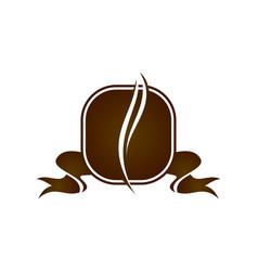 coffee cafe logo design template vector image