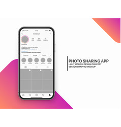 design template photo sharing mobile app vector image