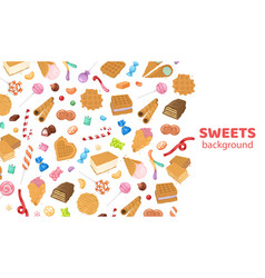 dessert sweets candy background vector image