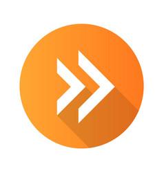 Double arrow flat design long shadow glyph icon vector