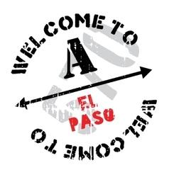 El Paso stamp vector
