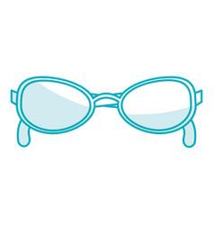 elegant eye glasses icon vector image