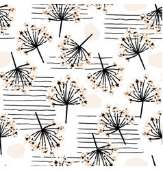 elegant seamless pattern with flower branch vector image