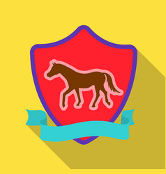 Equestrian blaze icon in flat style isolated on vector