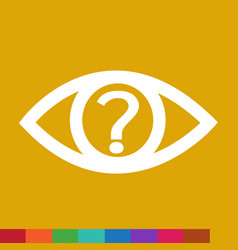 eye icon sign design style vector image