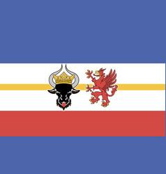 flag mecklenburg-vorpommern vector image