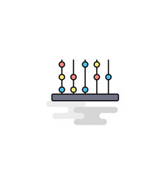 Flat abacus icon vector