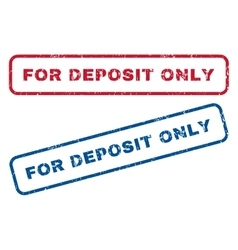 For Deposit Only Rubber Stamps vector