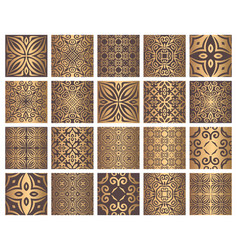 golden tiles collection vector image