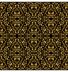 Golden vintage seamless pattern with lot of vector image