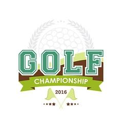 Golf championship emblem vector image