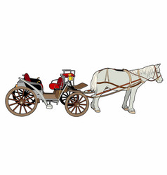 Great horse car vector
