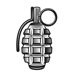grenade monochrome vintage vector image