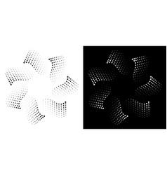 halftone dots circle frame background logo design vector image